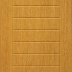 oak door with multiple grouve in horizontal shape