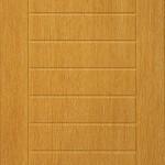 oak door with multiple grouve in horizontal shape