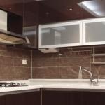 Aluminum kitchens silver frame with designed HPL 9SPECI