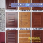 Aluminium panels with wide frames in wooden grains coated